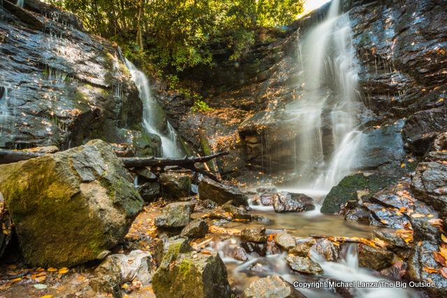 Soco Falls, off US 19 in western North Carolina.
