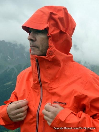 Patagonia Pluma Jacket hood.
