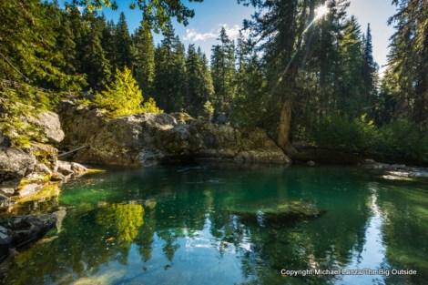 Swimming hole on Bridge Creek, North Cascades N.P.