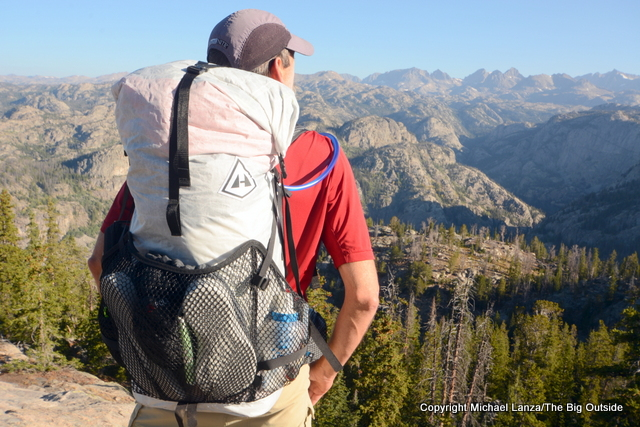 The Hyperlite Mountain Gear 3400 Windrider backpack in the Wind River Range.