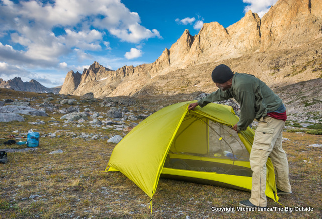 Marmot Tungsten UL 2P backpacking tent.