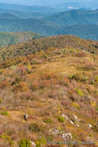 Hikers on the Art Loeb Trail, Pisgah National Forest.