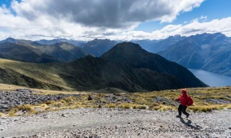 On the Kepler Track above Lake Te Anau, Fiordland National Park.
