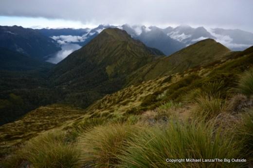 The Kepler Track above Forest Burn, Fiordland National Park.