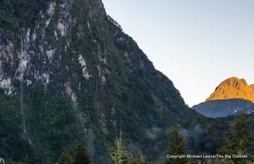 Waterfall in Iris Burn, Kepler Track, Fiordland National Park.