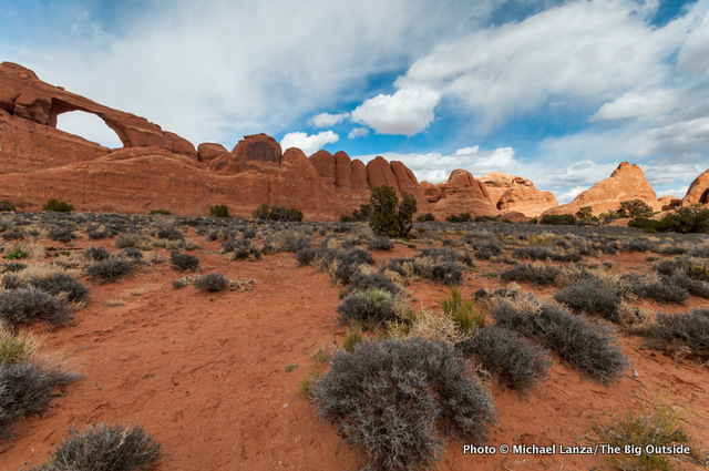 Skyline Arch in Arches National Park.