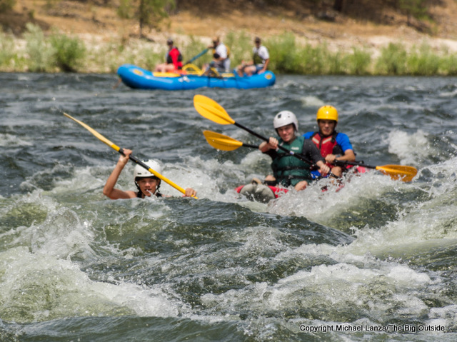 Kayaking the Payette River in southern Idaho.