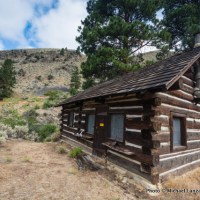 Historic Sater Cabin, Middle Fork Salmon River, Idaho.