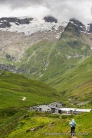 Hiking to Refuge des Mottets, Tour du Mont Blanc, France.