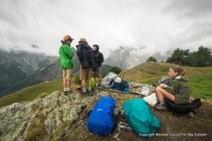 Above Courmayeur on the Tour du Mont Blanc, Italy.