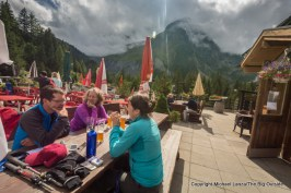 At Auberge des Glaciers, Tour du Mont Blanc, La Fouly, Switzerland.