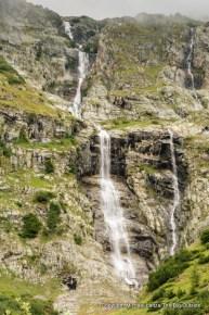 Waterfall, Tour du Mont Blanc, Val Ferret, Switzerland.