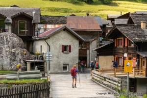 Alex hiking the Tour du Mont Blanc, Issert, Switzerland.