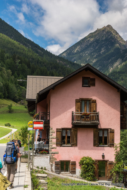 Hiking the Tour du Mont Blanc through Issert, Switzerland.