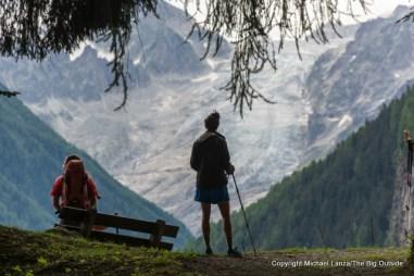 Above Finhaut, Switzerland, on the Tour du Mont Blanc.