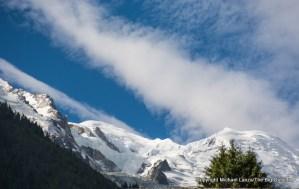 Mont Blanc seen from Chamonix, France.