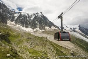The Aiguille du Midi gondola.