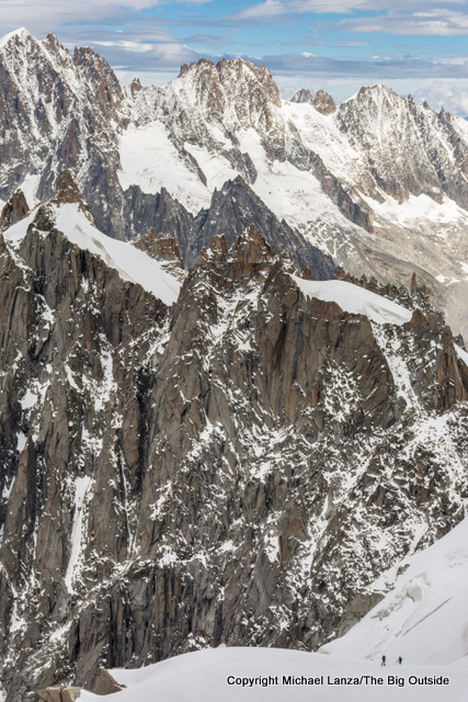 View from the upper station of the Aiguille du Midi gondola.