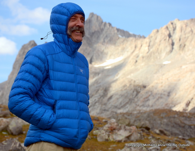 The Arc'teryx Cerium LT Hoody in Wyoming's Wind River Range.