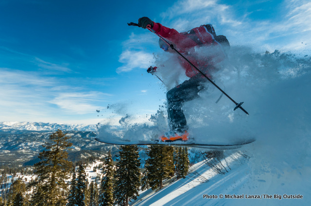 Chip Roser getting some air in Idaho's Boise Mountains.