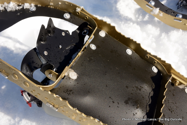 MSR Lightning Explore Snowshoes bottom and crampon.