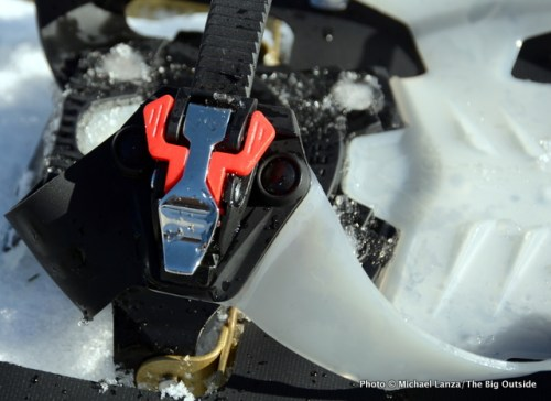 MSR Lightning Explore Snowshoes buckle.