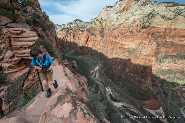 Hiking Angels Landing, Zion National Park.