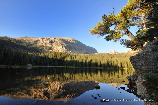 Ouzel Lake in Wild Basin, Rocky Mountain National Park.