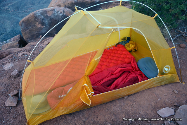 Big Agnes Tiger Wall UL 2 without the rainfly.