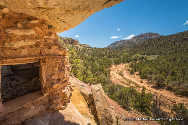Ancestral Puebloan ruins, Dark Canyon Wilderness, Utah.