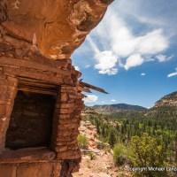 Ancient Puebloan ruins in Woodenshoe Canyon, Dark Canyon Wilderness, Utah.