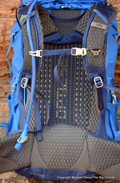 Gregory Optic 58 back panel and harness.