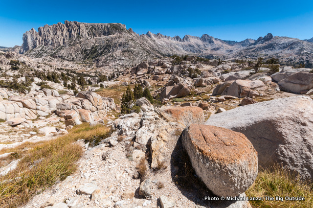 Looking northeast from Mule Pass in Yosemite National Park.