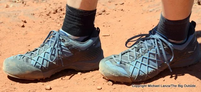 Salewa Wildfire hiking and approach shoes.