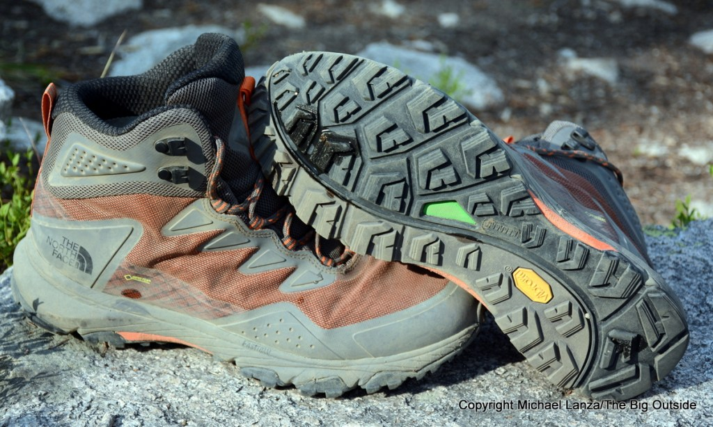The North Face Ultra Fastpack III Mid GTX hiking boots.