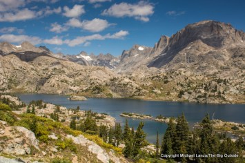 Island Lake, in the Wind River Range, Wyoming.