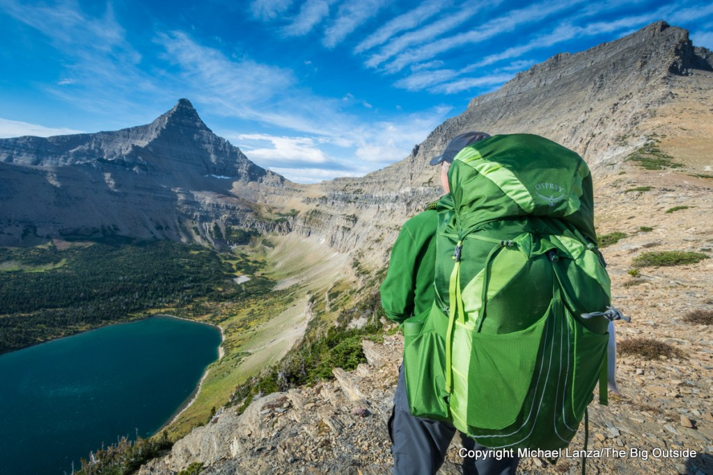 The 2018 Osprey Exos 58 in Glacier National Park.