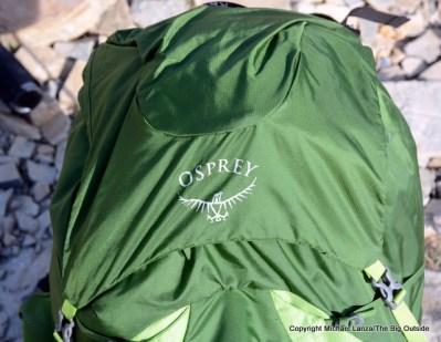 Osprey Exos 58 top flap.