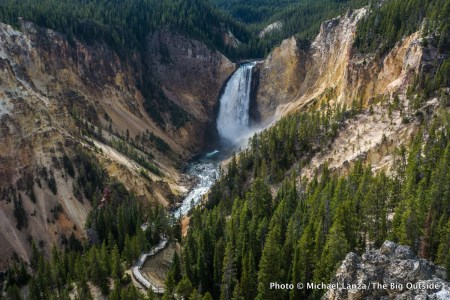 Lower Yellowstone Falls in the Grand Canyon of the Yellowstone River, Yellowstone National Park.