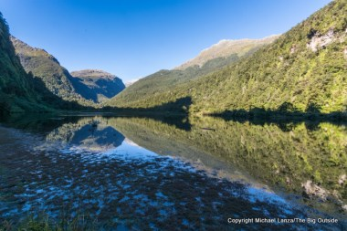 Gair Loch, on the Dusky Track, Fiordland National Park, New Zealand.