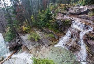 Unnamed cascade along St. Mary Lake Trail, Glacier National Park.