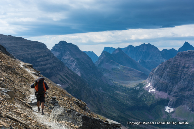 Hiking the Dawson Pass Trail in Glacier National Park.