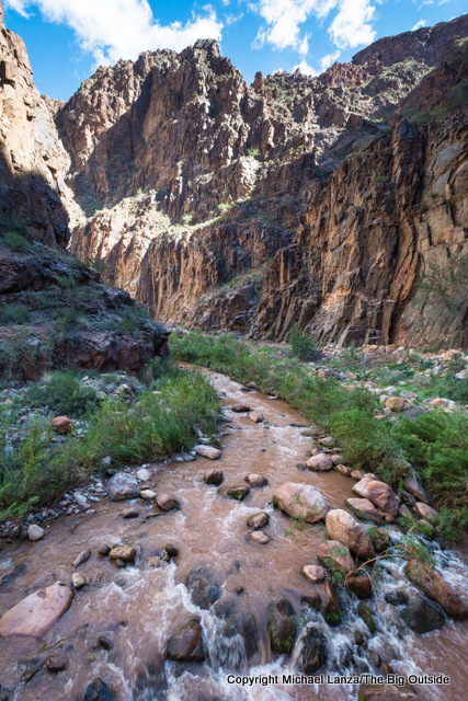 Bright Angel Creek along the Grand Canyon's North Kaibab Trail.