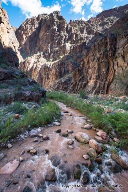 Bright Angel Creek along the Grand Canyon's North Kaibab Trail.
