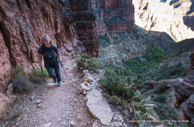 Gran7-148 Penny Beach hiking the North Kaibab Trail, Grand Canyon.
