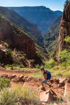 David hiking the North Kaibab Trail.