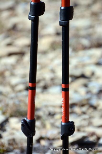 Black Diamond Trail Ergo Cork Poles FlickLocks.