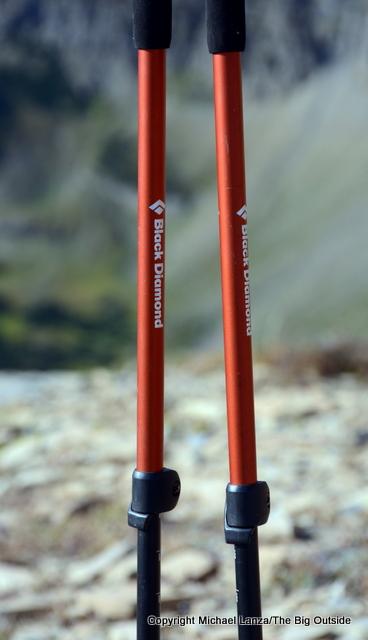 Black Diamond Trail Ergo Cork poles shafts.