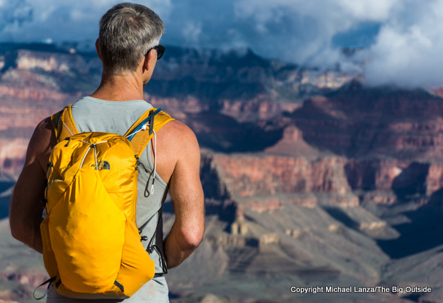 The North Face Chimera 18 daypack in the Grand Canyon.