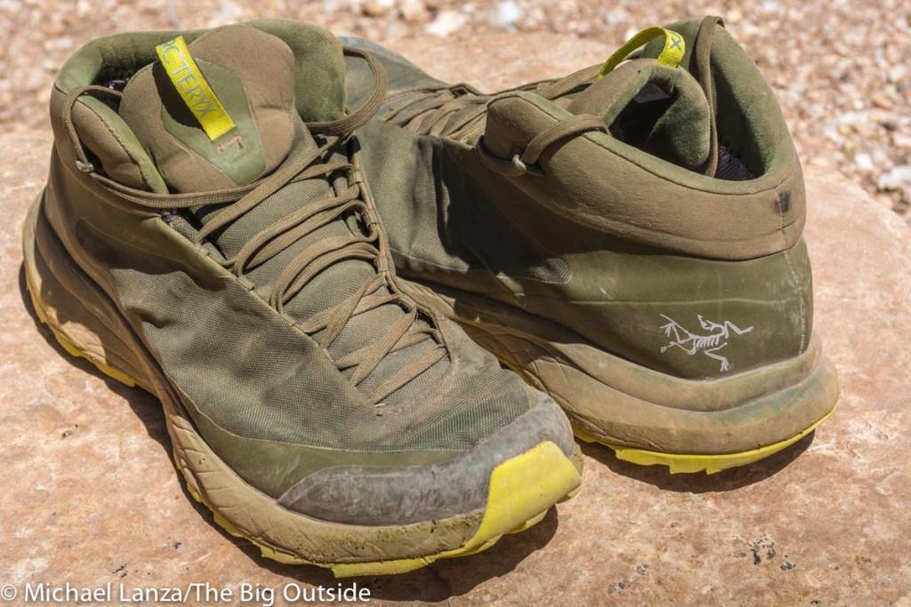 Arc'teryx Aerios FL Mid GTX shoes.